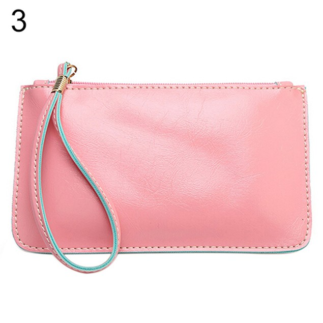 Women's Candy Color Purse ID Card Holder Coin Bag