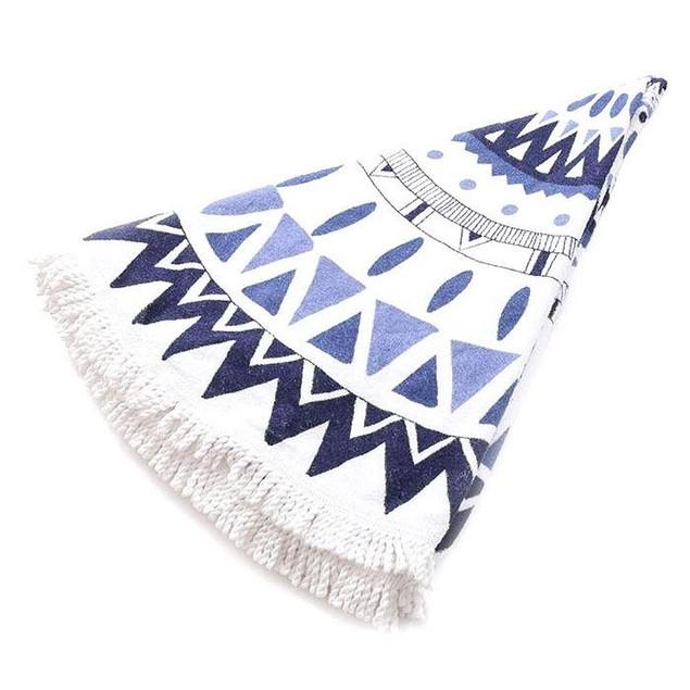 Abstract-Design Round Beach Towel