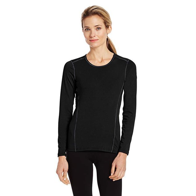 Hot Chillys Women's MTF 4000 Scoop Top, Black, Sz  X-Small