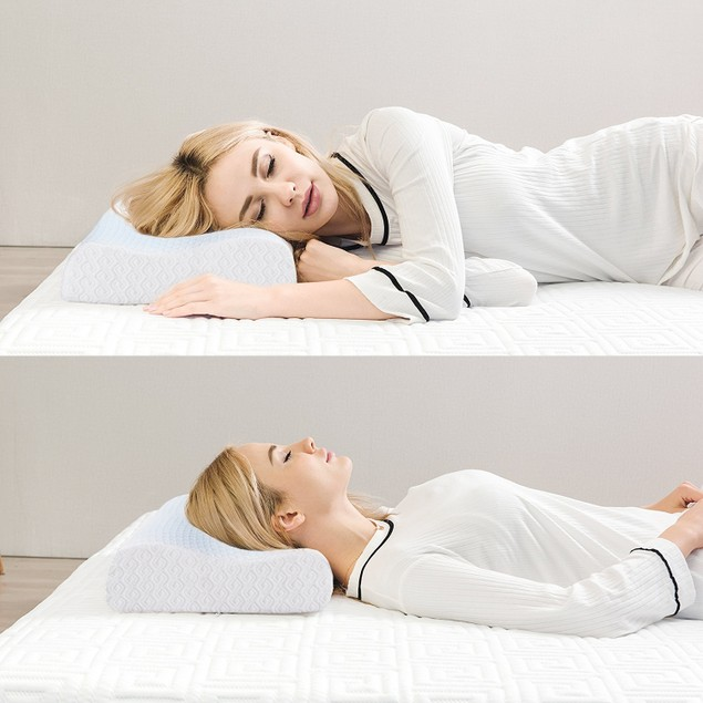 VECELO Gel Memory Foam Contour Pillows Relieve Neck Pain