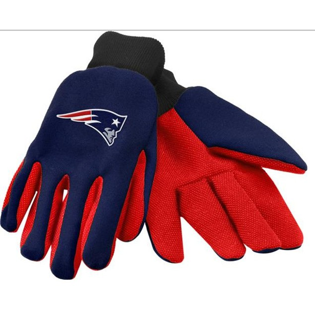 New England Patriots Work Gloves Forever Collectibles Work Blue Red Black
