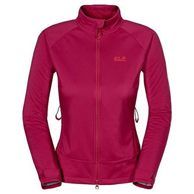 Jack Wolfskin Women's Storm Breeze Softshell Jacket, Azalea Red, Mediu
