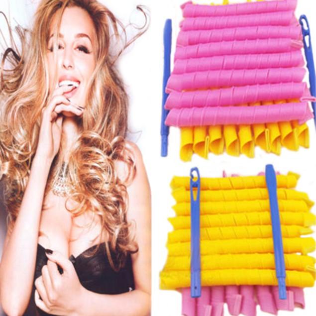 Long 55cm*2.5cm Ringlet Hair Curlers Leverag Curlformers Spiral Rollers