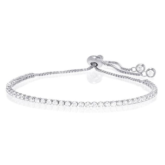 Adjustable Tennis Bracelet with Preciosa Crystals