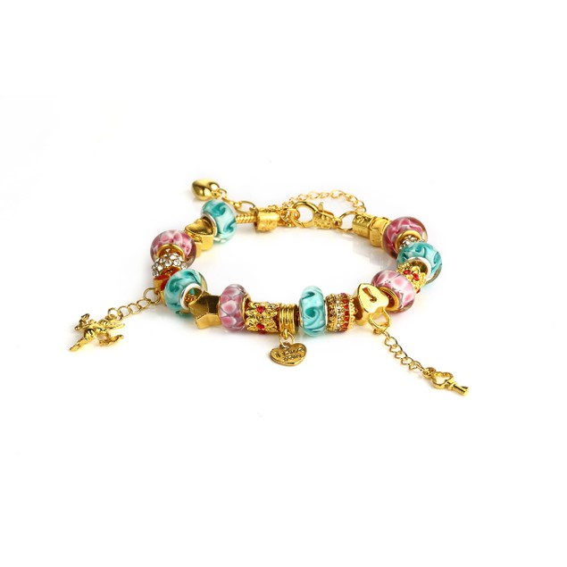 Novadab 18K Gold Plated Cupid Got Me Charm Bracelet