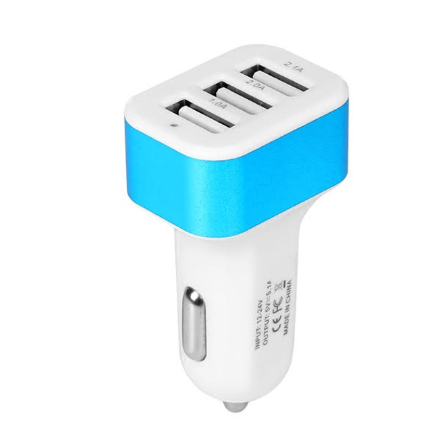 3-Port Car Charger