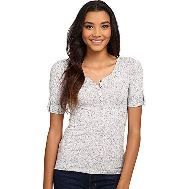 Mavi Jeans Women's Basic Shirt With Snaps Marsmallow Shirt