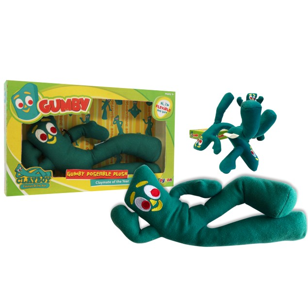 "Gumby Poseable Plush 9"" Bendable Flexible Toy"
