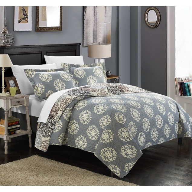 Chic Home 2/3 Piece Kimberly Boho Inspired Reversible Print Quilt Set