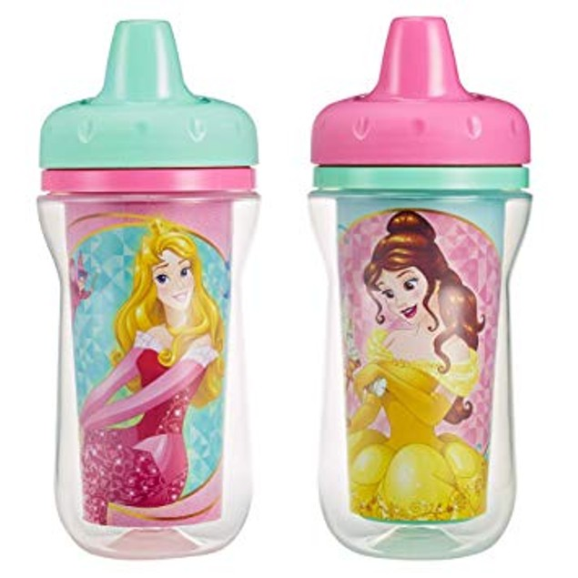 2 Pack 9 Ounce Insulated Sippy Cup, Disney Princess