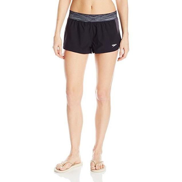 Speedo Women's Four-Way Stretch Swim Shorts Sz: L