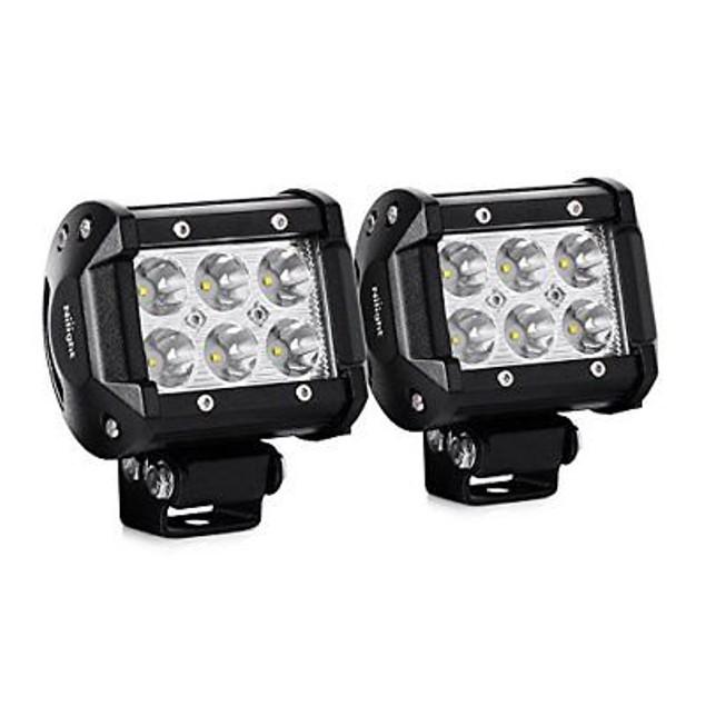 Nilight 2PCS 18W 1260lm Spot Driving Fog Light Led