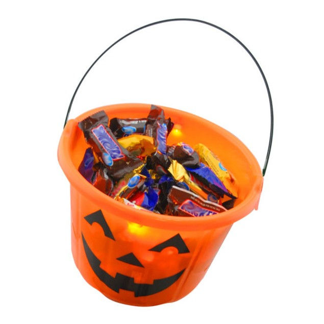3-Pack Halloween LED Light Up Trick-or-Treat Bucket