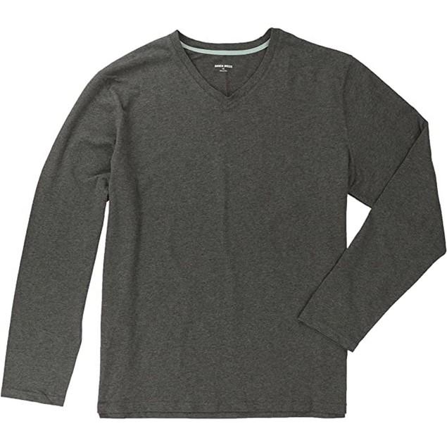 Rough Dress Premium Super Soft Men's Long Sleeve V-Neck, XL T-Shirt,