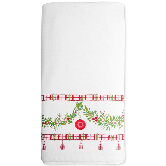 Dena Noelle Cotton 16 Inches x 28 Inches Printed Hand Towel, Multicolor
