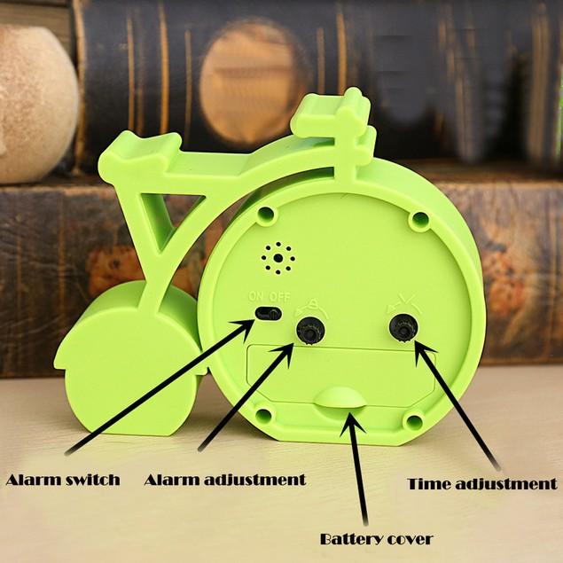 Creative Cartoon Mute Bike Student Gifts Alarm Clock Home Decor Clock