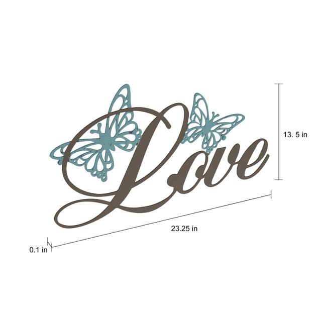 """""""LOVE"""" Rustic Metal Cutout Wall Art"""