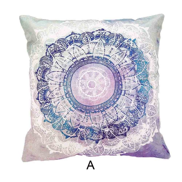 Bohemia Square Printing Pillow Case Cafe Home Decor Cushion Covers C80