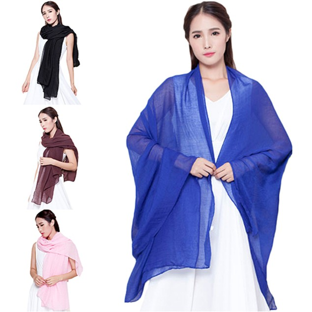 Women's Fashion Long Cotton Linen Wrap Scarf