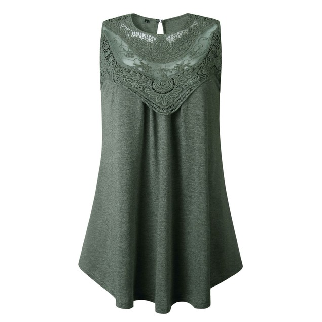 Lace Front Scoop Tank