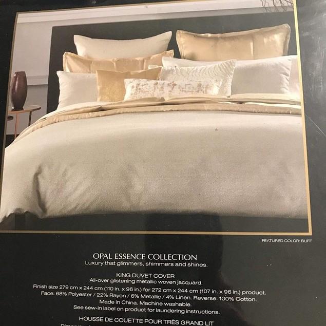 Donna Karan Opal Essence Duvet Cover, Textured Ombré Jacquard, King, Beige