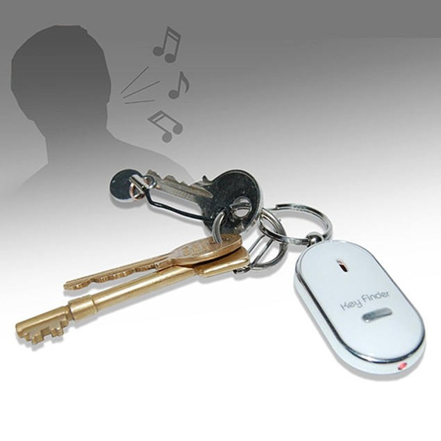 Whistle Key Finder Flashing Beeping Keyring