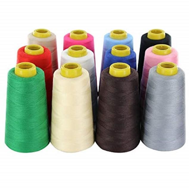12 Big Spools of Sewing Thread  Polyester Sewing Thread. 2400 yards