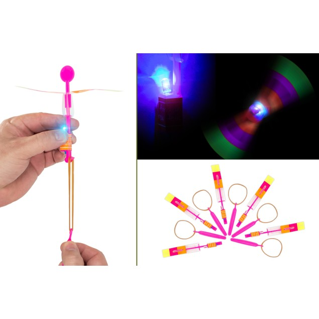 5-Pack LED Helicopter Shooters