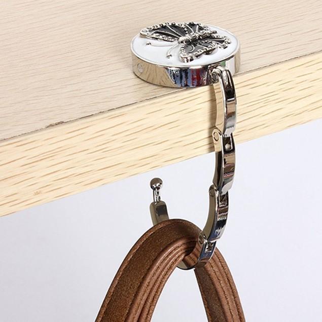 Portable Butterfly Folding Purse Hanger