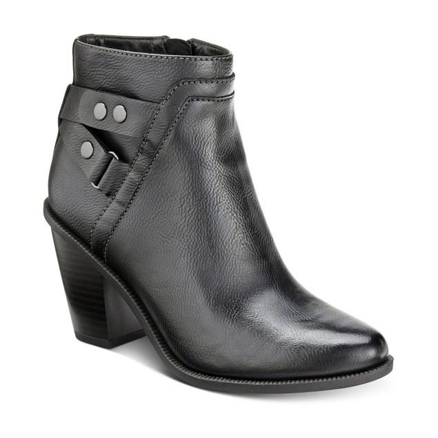 Women's Bar III Dove Block-Heel Booties Black Size 6 M