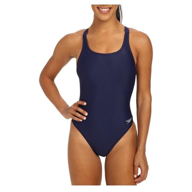 Speedo Solid Lycra® Superpro One Piece Swimsuit Navy SIZE 26
