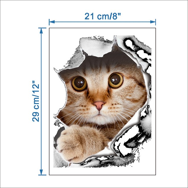 Vivid Cat Wall Cover Sticker