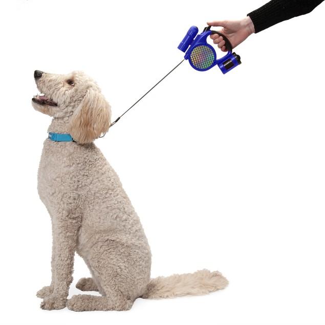 FurHaven Retractable Pet Leash with Led Flashlight & Waste Dispenser