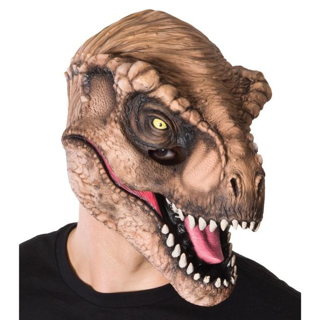 Jurassic World Adult Tyrannasourus Dinosaur Head Face Park Movie Tan Brown