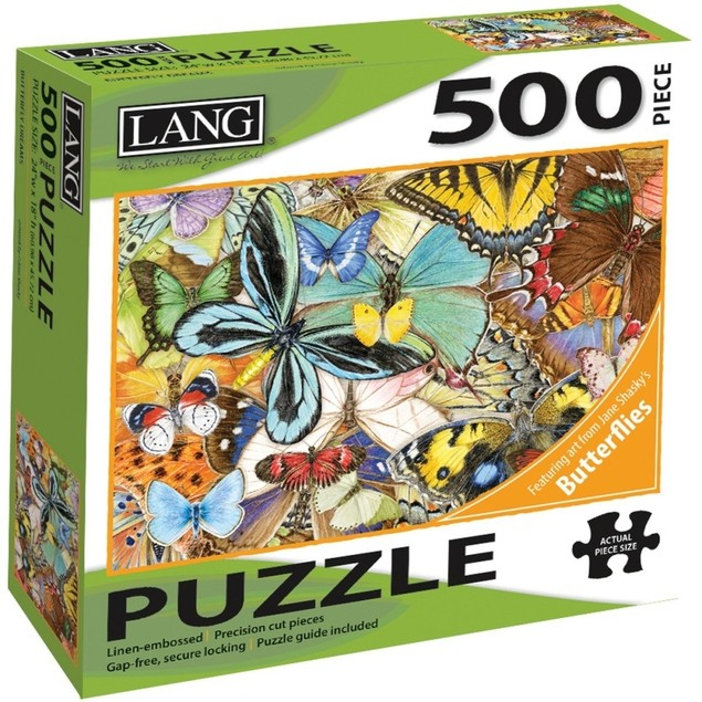 Butterfly Dreams 500 Piece Puzzle, 500 Piece Puzzle by Lang Companies