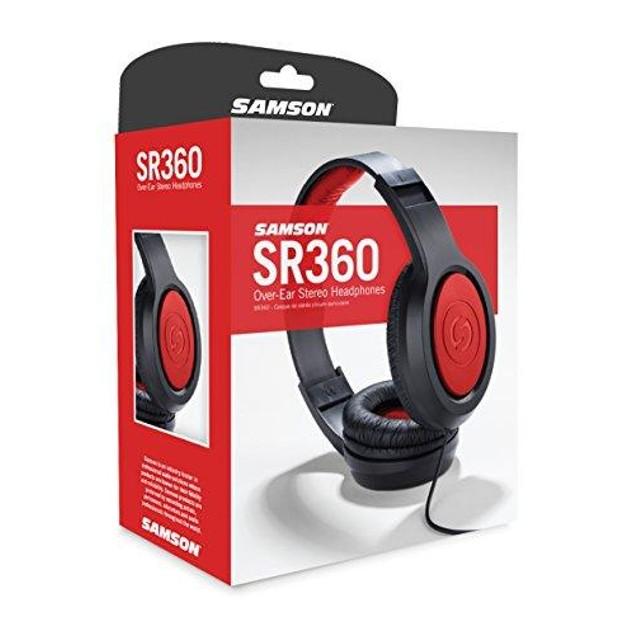 Samson SR360 Over-Ear Dynamic Stereo Headphones