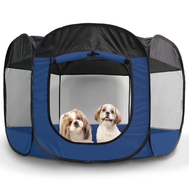 Portable Mesh Pet Playpen