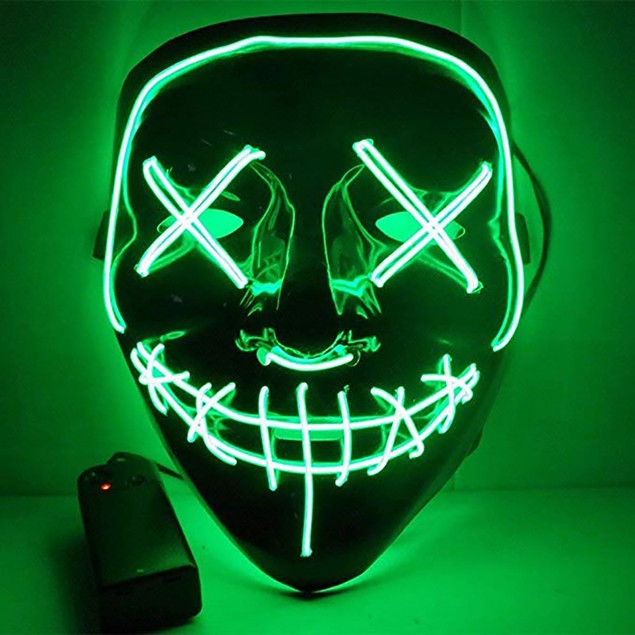 Halloween Scary Mask  EL Wire Mask Light up for Festival Party