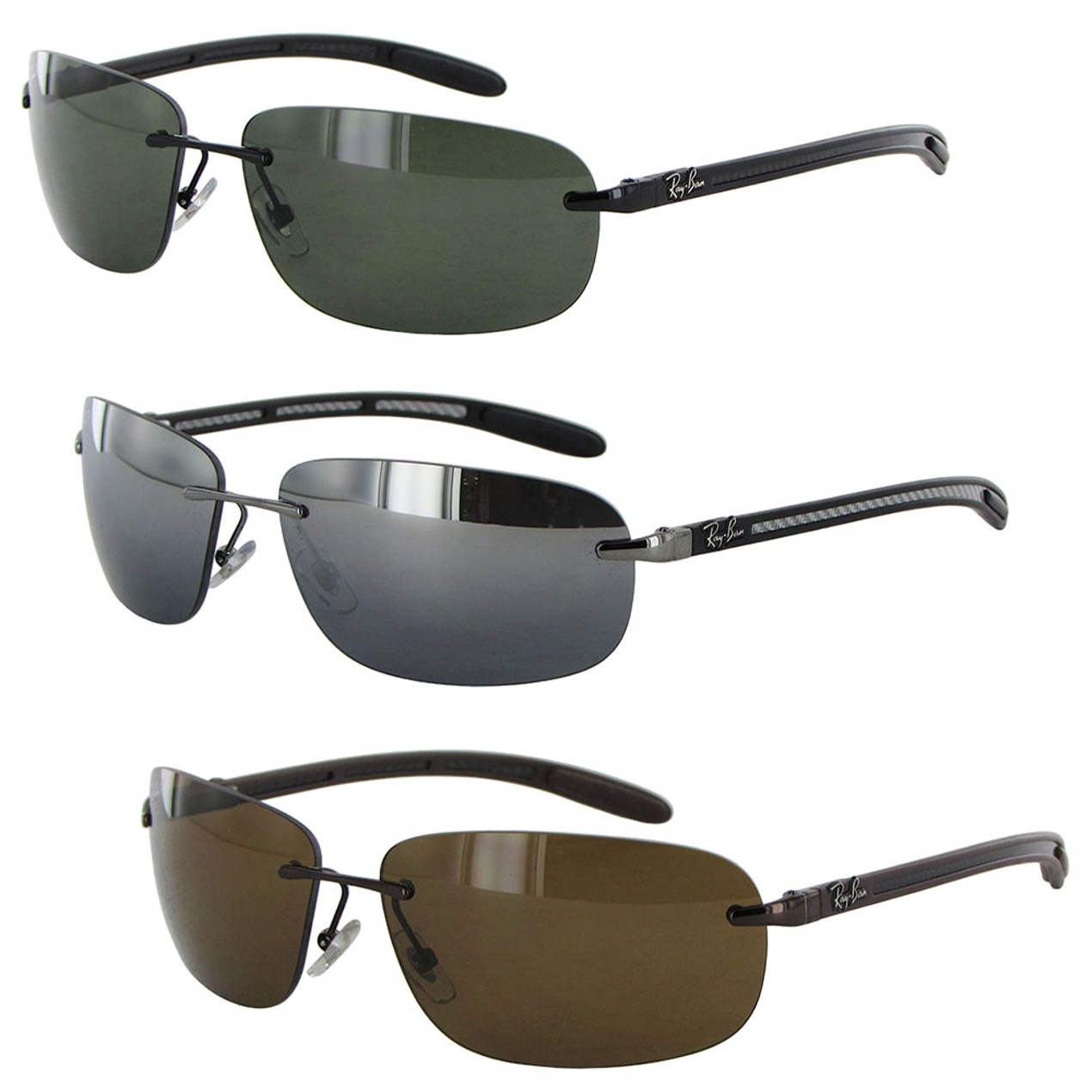7033417d70 ... closeout ray ban tech mens 8303 carbon fibre rectangle polarized  sunglasses cd62d d5c1b