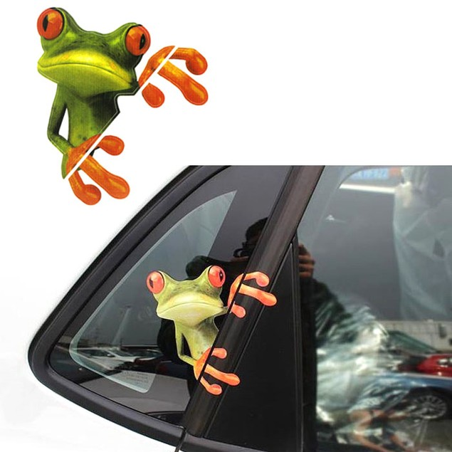 3D Peep Frog Funny Car Stickers Truck Window Decal Graphics Sticker