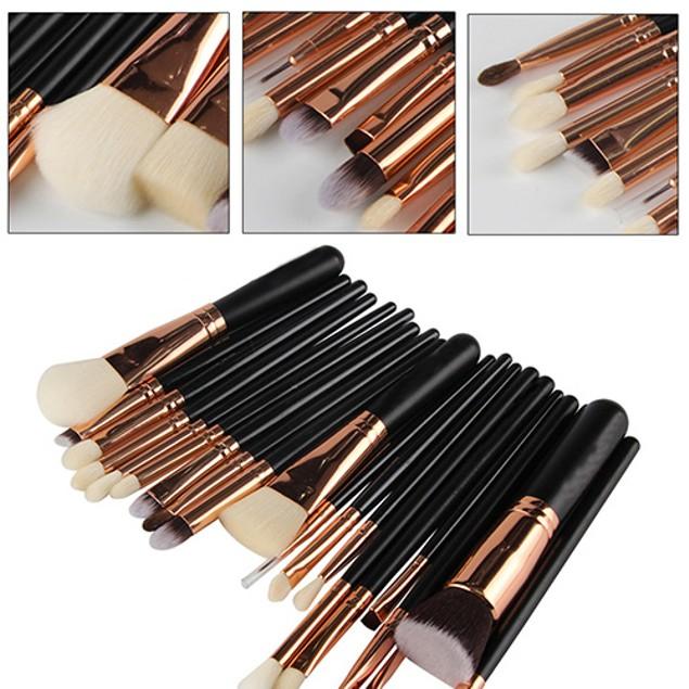 20 Pcs Eyeshadow Cheek Powder Foundation Brushes Cosmetic Makeup Brush