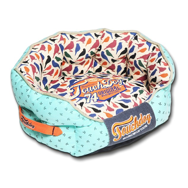 Touchdog Butterfly Rounded Premium Designer Dog Bed