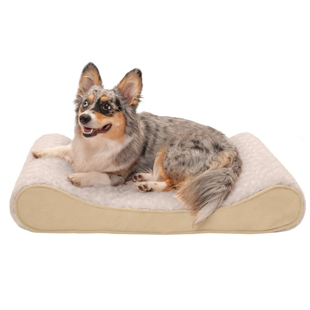 FurHaven Ultra Plush & Suede Luxe Lounger Cooling Gel Pet Bed