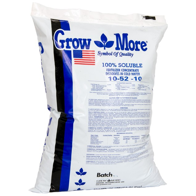 Grow More Water Soluble 10-52-10, 25 lbs