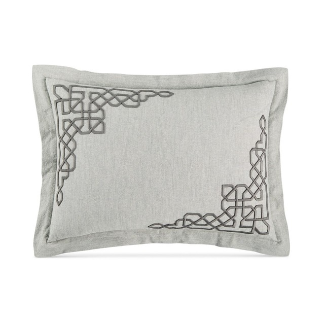 """Hotel Collection 20""""X36"""" Inch King Pillow Sham Duvet Cover, Heather Grey"""