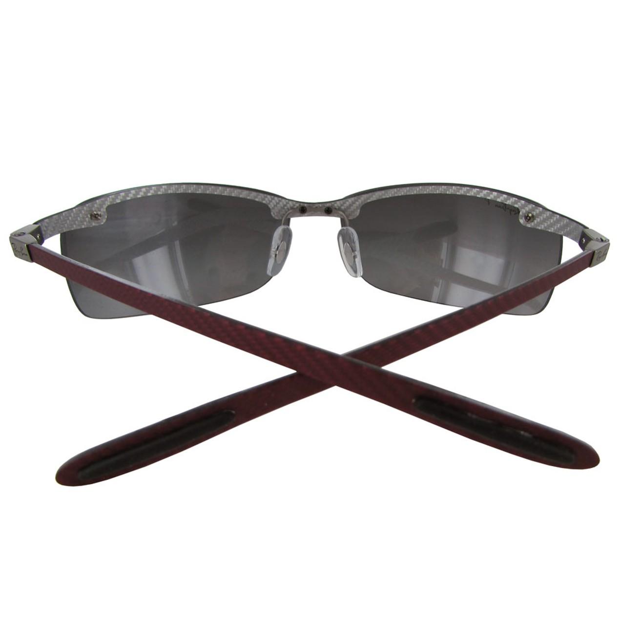 7dd514583ad00 ... Ray Ban Tech RB8305 Carbon Fibre Semi Rimless Polarized Sunglasses ...