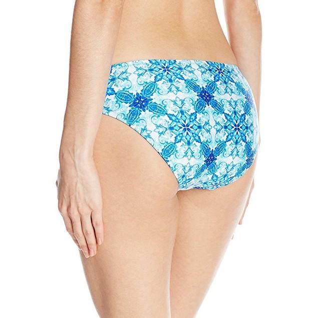 New La Blanca Women's True Blue Reversible Hipster Bikini Bottom, Sz: