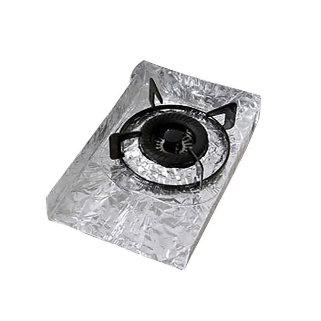 2Pcs Reusable Gas Stove Burners Covers Foil Surface Protection Mat Pad