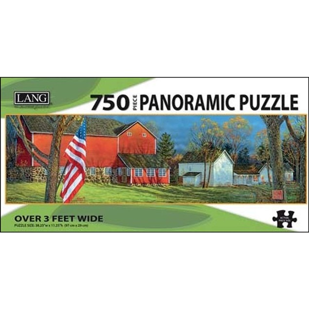 American Farm 750 Piece Panoramic Puzzle, 750 Piece Puzzle by Lang Companie