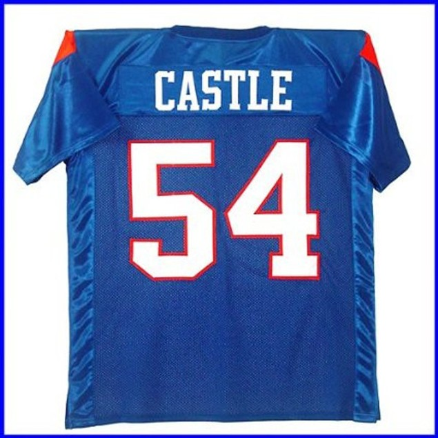 Thad Castle #54 Blue Football Jersey